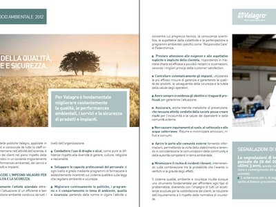 The Valagro group presents the 2012 financial statements: economic growth with a focus on environmental sustainability